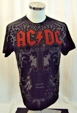 AC/DC T-Shirt Size M Black Ice Angus Young All Over Print soft thin