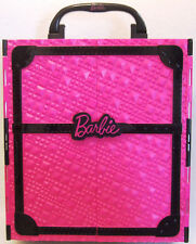 Barbie Pink & Black Doll & Accessories Carry Case