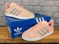 ADIDAS LADIES UK 5 EU 38 HAZE CORAL SUEDE GAZELLE TRAINERS RRP £75