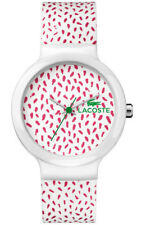 Lacoste Sports Watch Goa White Pink New In Box Model 2020097 rrp £64.99