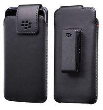 BlackBerry d'origine Cuir étui pivotant étui coque w/ Pince pour DTEK50 - Noir