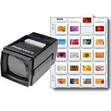 Pana-Vue 2 35mm 2x2 Slide Film Viewer + Print File 2x2-20B Slide Pages (25 pack)