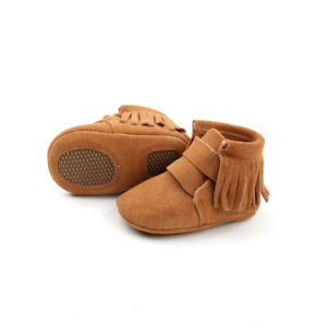Baby Boots leather baby booties moccasins toddler boots Brown snow boot Boy Girl