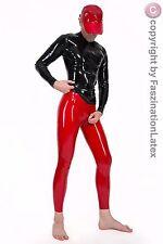 Latex Leggings mit Zipper von LATEXA für SIE UND IHN - ROT - Größe zur Auswahl