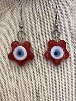 Red Evil Eyes Earrings