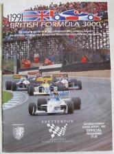 SNETTERTON 3/4 Aug 1991 British Formula 3000 A4 Official Programme