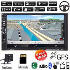 """Autoradio 7 """"2 DIN GPS-Navigation MP5 Radio USB Bluetooth Lecteur stéréo +Kame"""