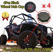 4 x Black Wheel Tire Rim Hub Cap Cover For 2015-2017 Polaris RZR XP 4 1000 900