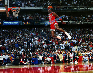 NBA Michael Jordan Chicago Bulls Airborne Color 11 X 14 Photo Picture