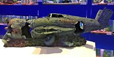 Large Fighter Plane Wreck Ruin Fish Tank Aquarium Ornament 967