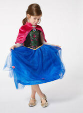 BNWT Frozen Fancy dress - Anna costume- Blue Dress & Cape 9 - 10 Yrs