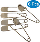 Large Safety Pins, 5 Inch Jumbo Safety Pins, Heavy Duty Stainless Steel Oversize