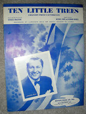 1957 TEN LITTLE TREES Chanson Pour L'Auvergnat Sheet Music LAWRENCE WELK Eng/Fr