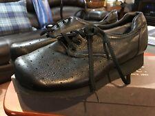 NIB P.W. MINOR Extra Depth BLACK Orthopedic Lace Occupational Shoe Size 10.5 B