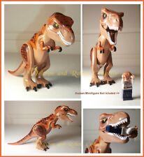 X Large T Rex Jurassic World Minifigure for Lego Figures Tyrannosaurus Dinosaurs