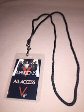 Maroon 5 Five V Tour Vip All Access Backstage Pass Meet & Greet With Lanyard!