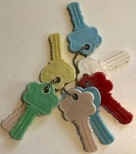 Vintage Toddler Toys Classic Keys on Chain (8) - Hong Kong Collectible