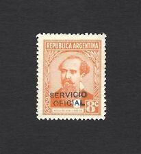 Argentina #429 1935 8c Avellaneda wi SERVICIO OFICIAL handstamped overprint MNH