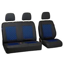 Negro azul efecto 3d fundas para asientos para citroen jumpy asiento del coche referencia set 1+2