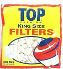 600 TOP King Size 18mm Filter Tips 3 packs of 200 cigarette cotton tips