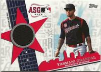 2019 Topps Update YASMANI GRANDAL All-Star Stitches Relic Brewers Jersey Black