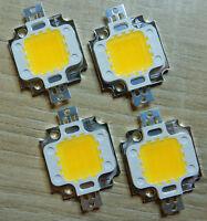 4 Stk. 10 W LED Chip ww, 9 - 10V, 30*30 mil ,1000 Lm,High Power,COB,Aquarium,12V