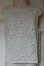 All Saints Zepetelli Cut Out Top in Chalk Size 12 BNWT £148
