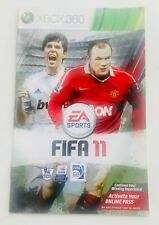 Fifa 11 2011 Microsoft Xbox 360 Video Game MANUAL Instructions Booklet Leaflet