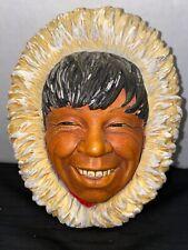 "Vintage Bossons Chalkware Head ""Eskimo""-1968"