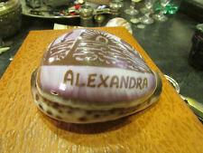 coquillage sculpté alexandra ile maurice souvenir club med 1987