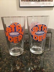 Set of 2 8th Wonder Brewery Pint Glass Astrodome Houston, Texas Astros
