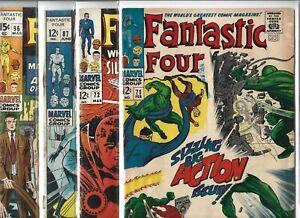 Fantastic Four #71, #72, #87 & #96   Lot of 4 (1968-1969, Marvel Comics)