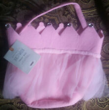 Pottery Barn Kids Pink Tulle Crown Treat Bag NEW