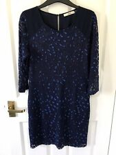 Oasis Blue Animal Print Dress. Size M (UK 10-12)