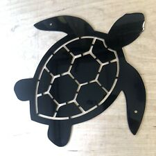 Turtle metal wall art for outdoor beach bar or boat house - Powder Coated