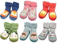 Baby Boy Girl Moccasins Non Slip Slippers Grip Socks Age 6-1218-24 Months Gift