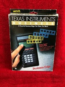 Vintage Texas Instruments Business Bord Finance Et Statistiques Calculatrice