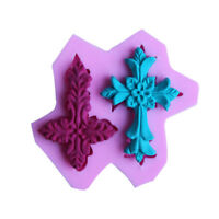 3D Cross Silicone Mold Fondant Cake Decorating Chocolate Sugarcraft Mould Tool