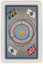 Playing Cards 1 Swap Card Old Vintage REDERIAKTIEBOLAGET SVENSKA LLOYD Shipping