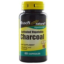 Mason Natural Activated Vegetable Charcoal Capsules 60 ea (Pack of 2)