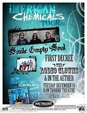 SMILE EMPTY SOUL/ACIDIC/FIRST DECREE 2013 PORTLAND CONCERT TOUR POSTER - Rock
