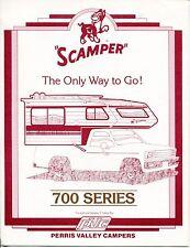 """Vintage Ad Brochure: """"SCAMPER"""" Travel Camper: """"700 Series"""""""