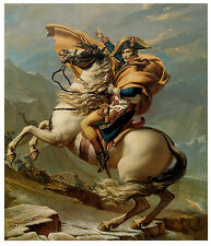 Napoleon Crossing the Alps, c.1800, Jacques-Louis David - Horse Art on Canvas