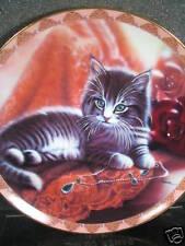 Soft Elegance 1995 EMILY IN EMERALDS Cat Kitten Ltd Ed Plate