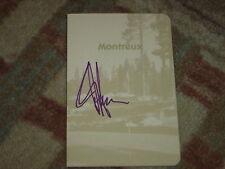JJ Henry Reno Taho Open Signed Montreuc CC Scorecard