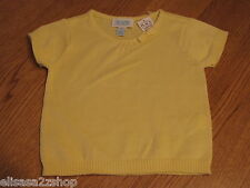 The Children's Place girls 18M 18 months T shirt Yellow Sweater NWT ^^