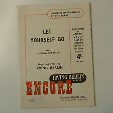combo / dance band parts LET YOURSELF GO [ follow the fleet - arr jimmy lally ]