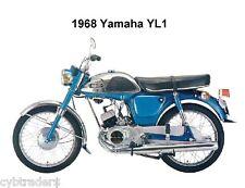 1968 Yamaha  YL1 Motorcycle  Refrigerator / Tool Box Magnet
