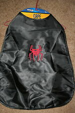 Spiderman Inspired Child's Black Silk Cape NWOT embroidered-ADD A NAME FREE!