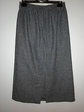 Katies Ladies Vintage Skirt in a Black and Grey Check Wool Blend Size 12
